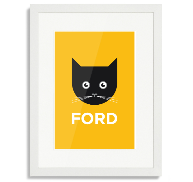 Catford Pâté Print with White Frame, Place in Print £50.00