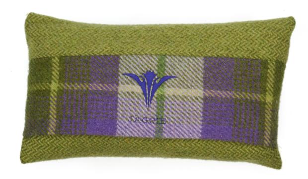 The Jaggie Cushion, Prickly Thistle Tartan £150.00