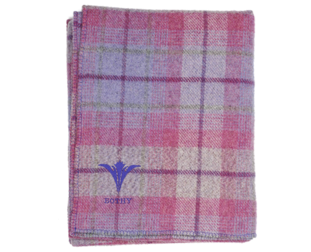 The Bothy Blanket, Purple Thistle Tartan £695.00