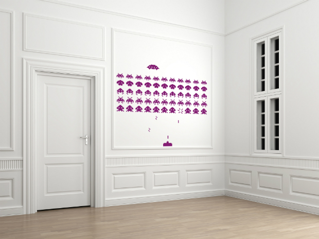 Space Invaders Style Wall Sticker Set, Spin Collective £28.00