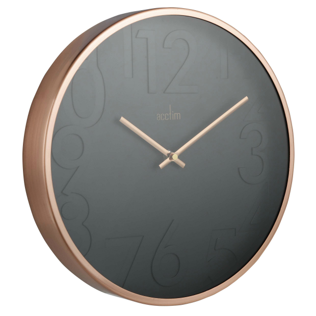 Acctim Copper & Black Wall Clock, Tesco £30