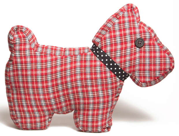 Tartan Scottie Dog Cushion, The Oak Room £14.99