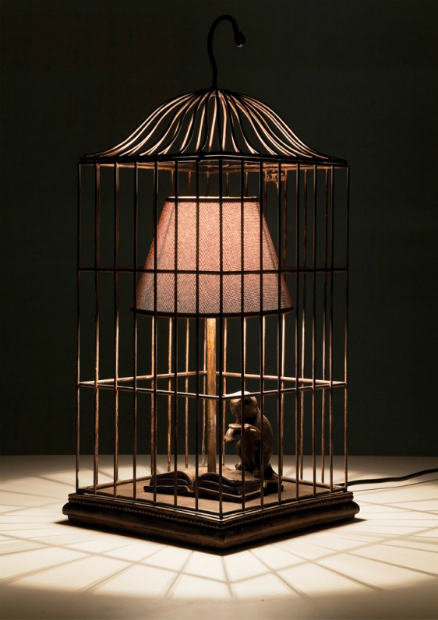 Cat in a Cage Table Lamp, Design 55 Online £124.00