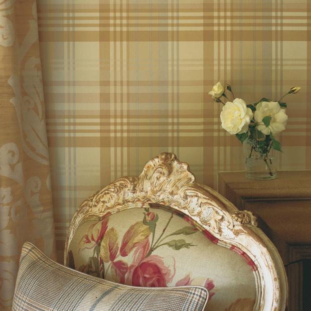Mulberry Home Modern Tartan Wallpaper, Occa Home £85.00