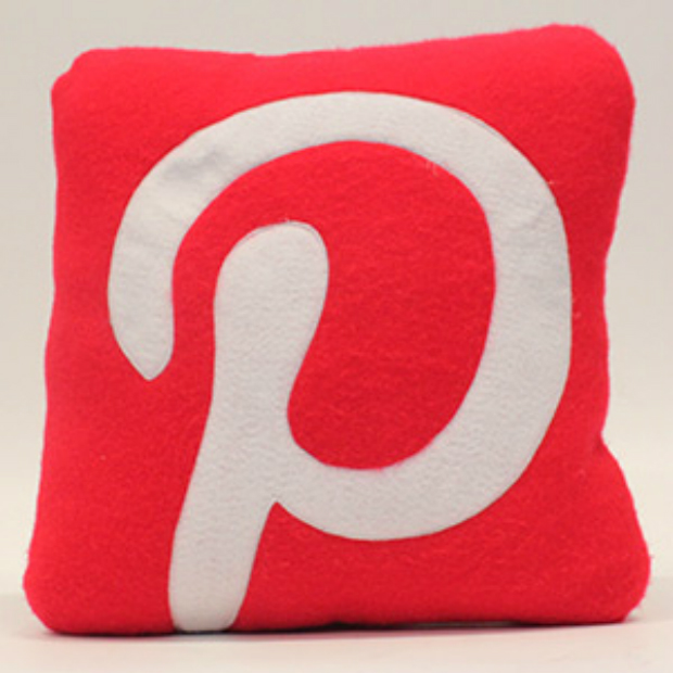 Pinterest Cushion, Red Rocket Cushions £20.98
