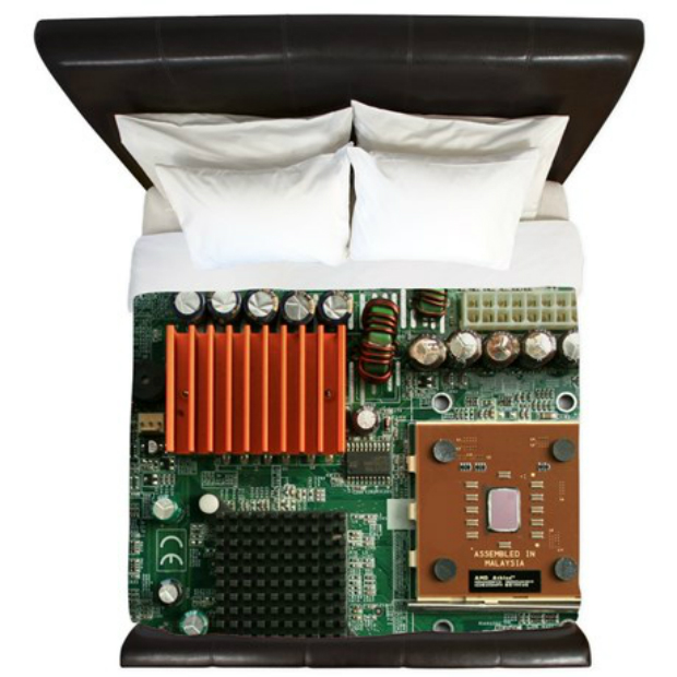 Motherboard King Duvet, Cafepress £132.50