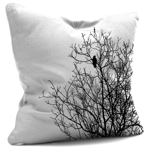 Black And White Tree Cushion, Not on the High Street £29.00