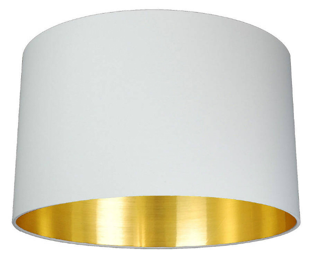 Brushed Gold Lined Lamp Shade, Not on the High Street £45.00