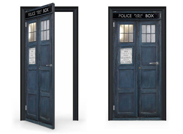 Custom Tardis Door Wrap, Not on the High Street £99.00