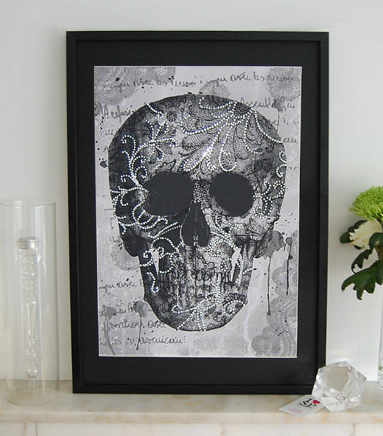 Lace Face Framed Artwork, Not on the High Street £195.00