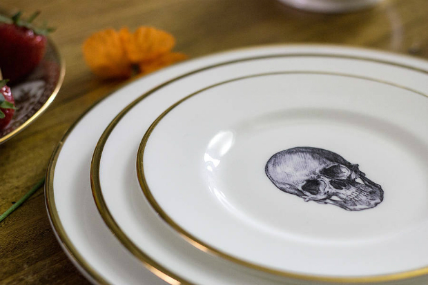 Skull Bone China Plate, Not on the High Street, £30.00