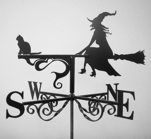 Witch And Cat Weathervane, Not on the High Street £195.00