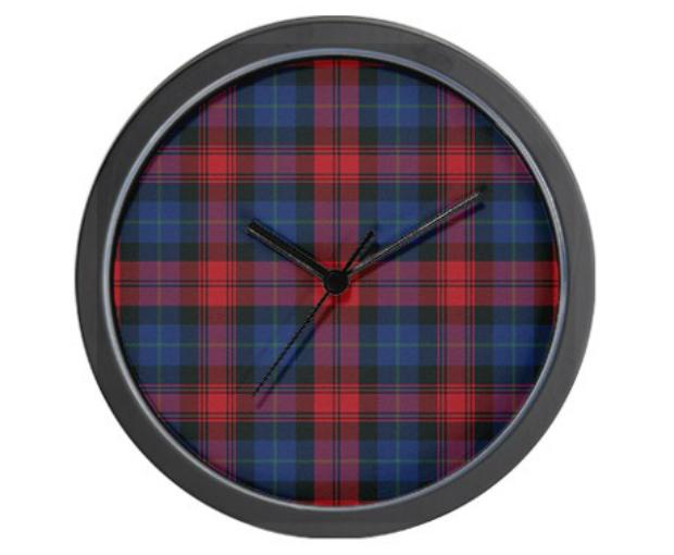 Tartan - MacLachlan Wall Clock, Cafepress £14.00