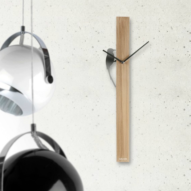 Karlsson WoodPecker Wall Clock, Viva Lagoon £95