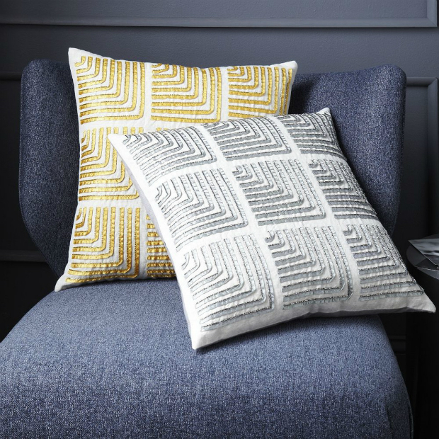 Beaded Corners Cushion Cover, West Elm £44.00