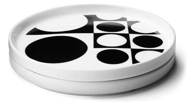 Menu Verner Panton Plate Black Set Of 2, Occa-Home £30.00