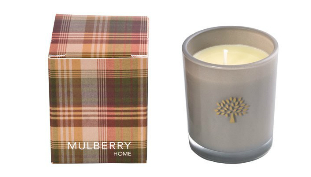 Mulberry Home Mini Tartan Votive - Orange & Clove, Occa-Home £19.50