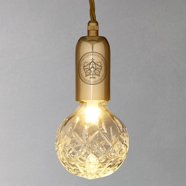 Lee Broom Crystal 24 Carat Gold Bulb Pendant, John Lewis £239.00
