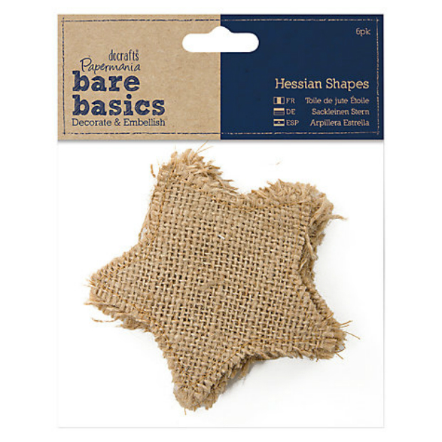 Docrafts Bare Basics Hessian Stars, John Lewis £3.50
