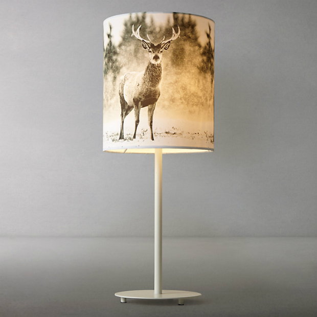 Photographic Stag Table Lamp, John Lewis £35.00