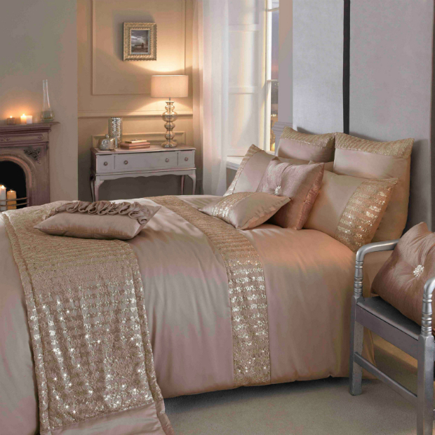 Mish Blush Satin Bedding by Kylie Minogue, eBay £14.40