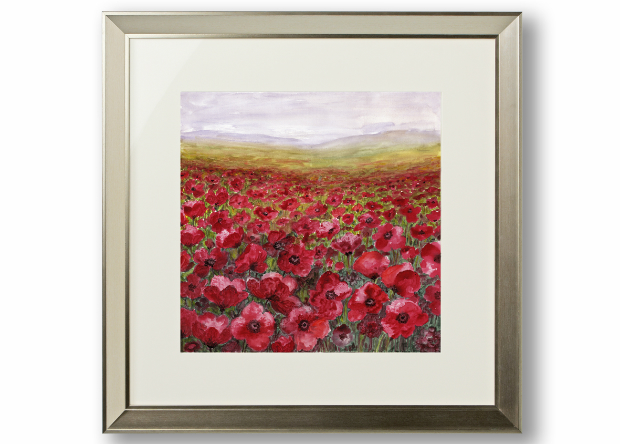 Poppy Field Framed Print, Arthouse £100.000
