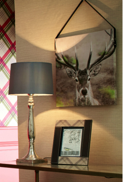 Stag Printed Canvas with Faux Leather Strap, ARTHOUSE £9.99