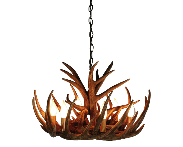 Wilderness Tall 6 Arm Antler Chandelier, Alexander & Pearl £450.00