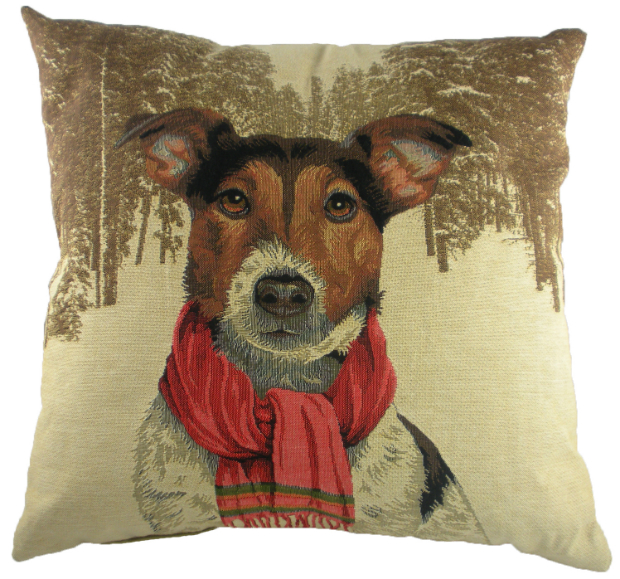 Evans Lichfield Jack Russell with Scarf Cushion, Cotswold Trading £25.00