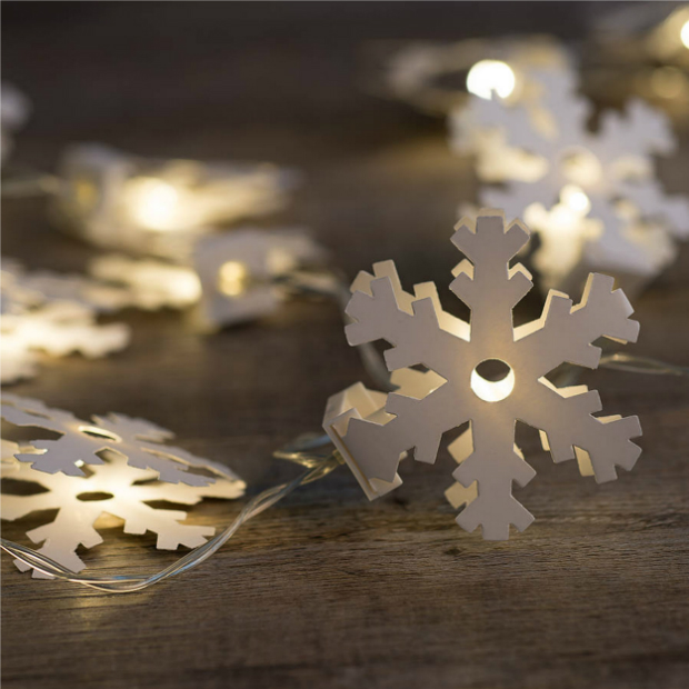 White Paper LED Snowflakes, Hintons Home £12.99