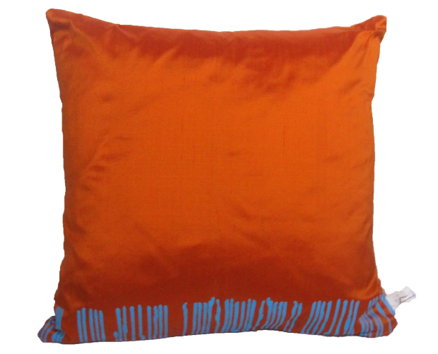 Blue on Orange Cushion, In-Spaces  £46.00