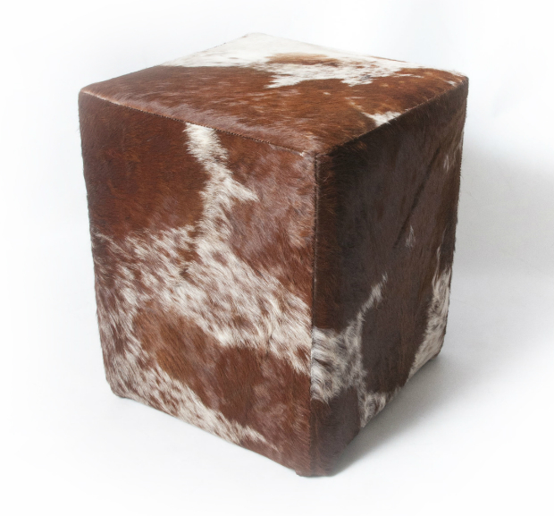 Hoxton Chocolate Cowhide Cube, Leather & Lavender £225.00