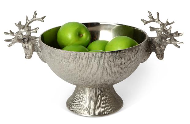 Silver Stag bowl, LuxDeco