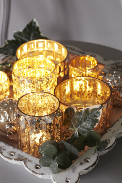 Mirrored glass votives and baubles 201, Retreat-Home Ltd from £19.99