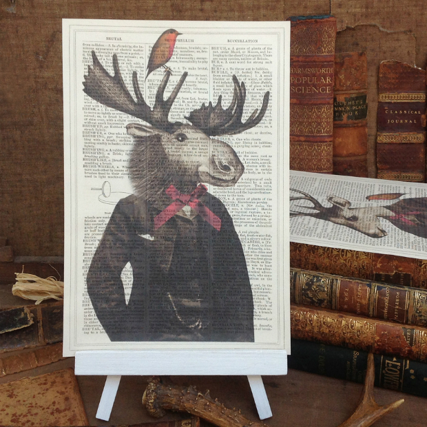 'Gentleman Stag and Robin', Roo Abrook £10.00