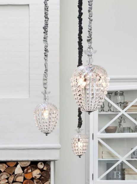 Scandinavian Glass Chandeliers, Nordic House from £102.00