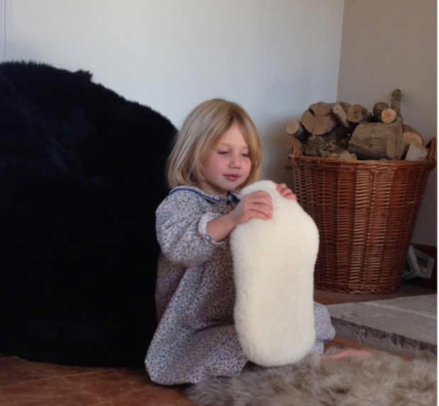 Sheepskin Hot Water Bottle Cover, English Cowhide Company £45.00