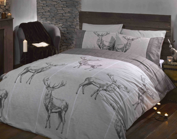 Highland Stag Natural Duvet Set, elinens From £9.97
