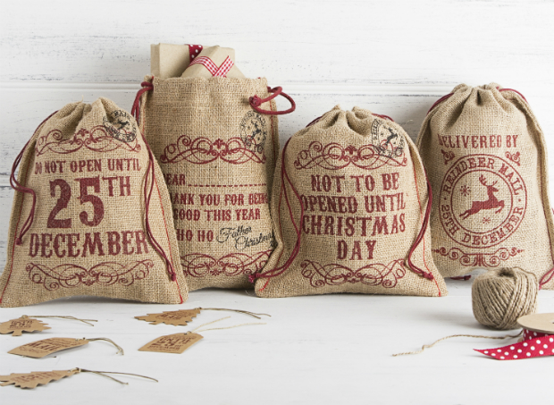 Hessian Gift Bags, The Contemporary Home £4.00