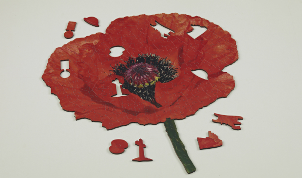 Lest We Forget First World War Centenary Poppy Puzzle, Wentworth Wooden Puzzles £27.95