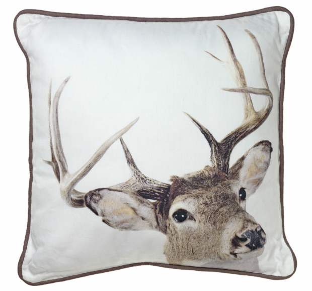 Deer head print cushion, Wyevale Garden Centres £12.99