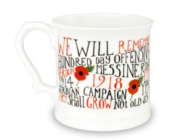 First World War 1914-1918 English Bone China Mug, Poppy Shop £17.99