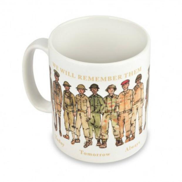 Military Line-up Mug, Poppy Shop £4.99