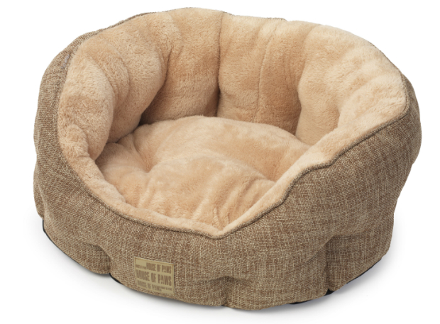 Natural Hessian & Plush Oval Bed, House of Paws £29.99