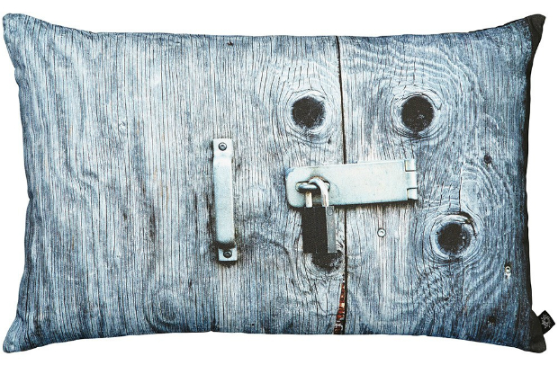 By Nord Fishing Lodge Blue Door With Padlock Cushion, Occa-Home £73.00