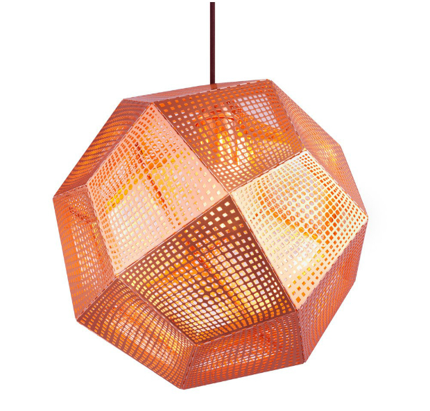 Tom Dixon Etch Shade Copper Pendant Light, Occa-Home £325.00