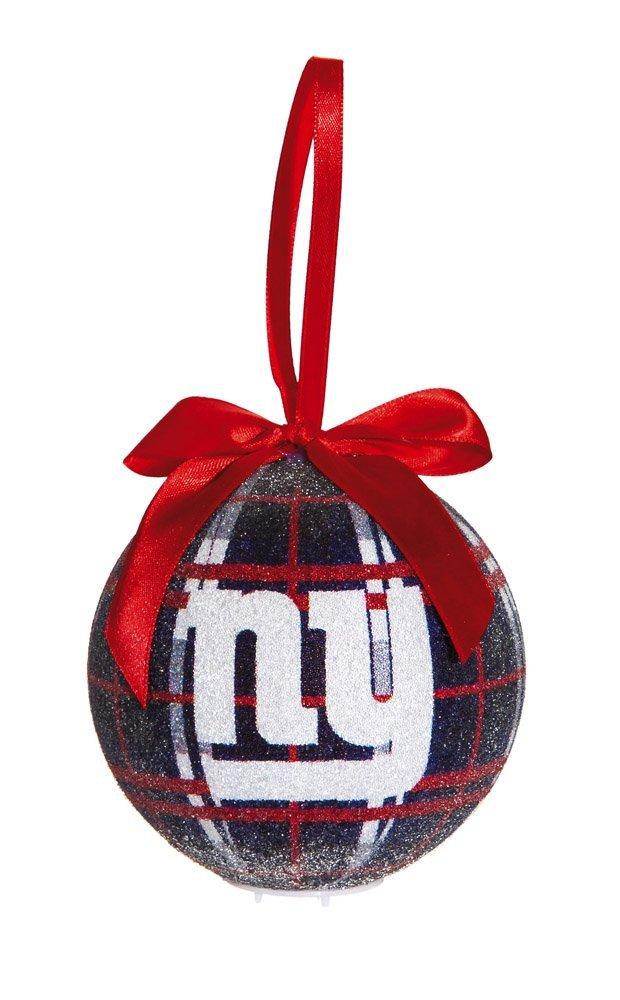 New York Giants Light Up Led Sparkle Plaid Christmas Ornament, Amaxon £9.00