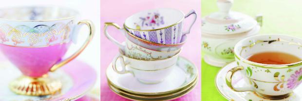 Vintage Teacups Set Of 3, Arthouse £9.99