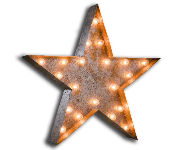 STAR Vintage Light Bulb Symbol, Alexander & Pearl £300.00