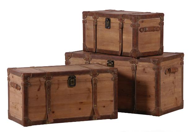 Woodland Set Of 3 Storage Trunks, Alexander & Pearl £295.00